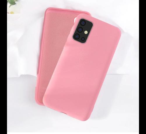 ShieldCase Shieldcase silicone case Samsung Galaxy A71 (roze)