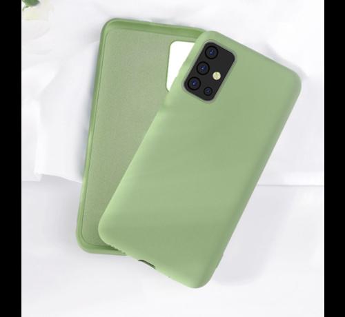 ShieldCase Shieldcase silicone case Samsung Galaxy A71 (lichtgroen)