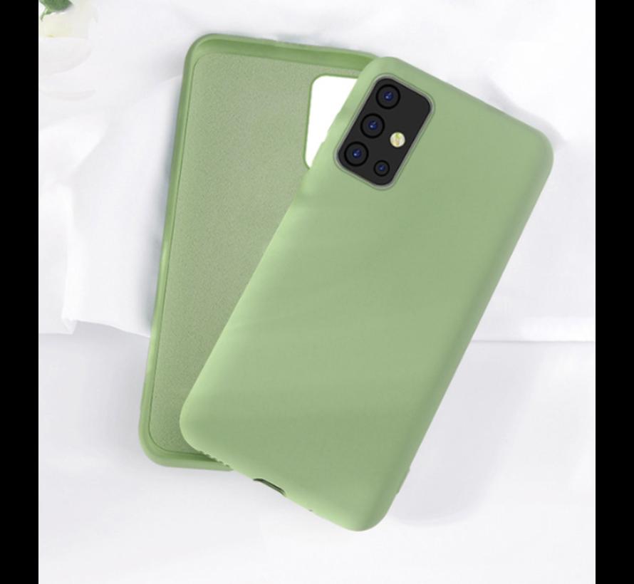 Shieldcase silicone case Samsung Galaxy A71 (lichtgroen)