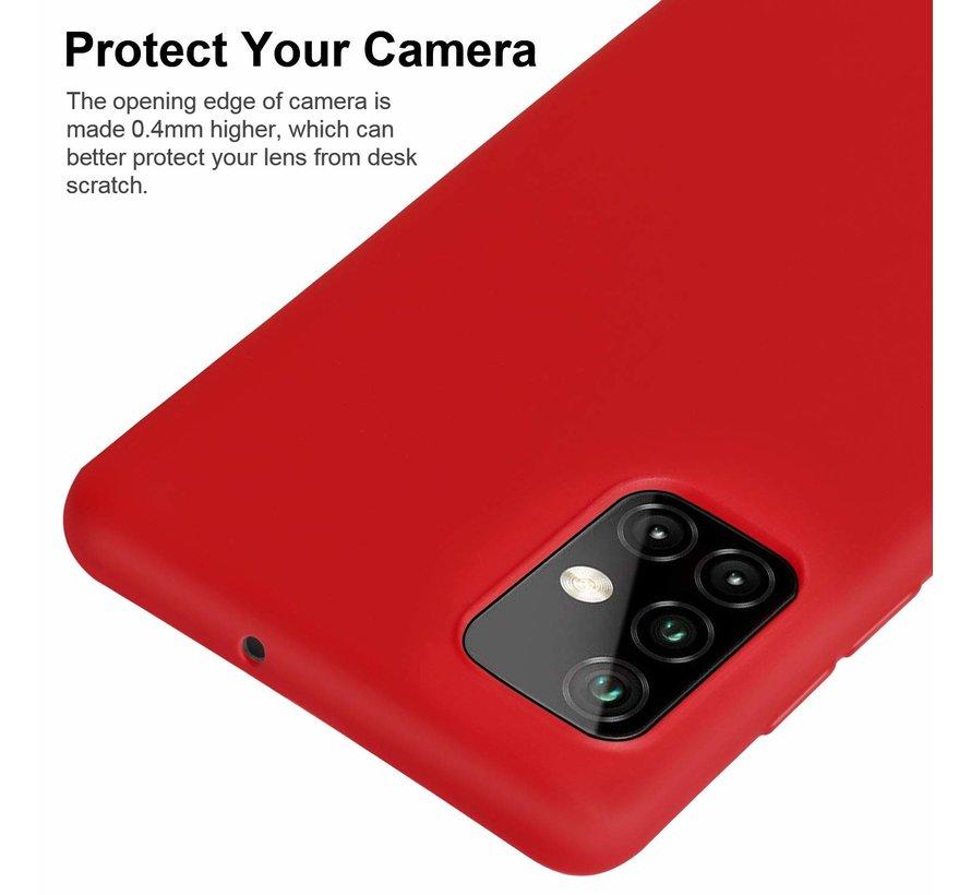 Shieldcase silicone case Samsung Galaxy A51 (rood)