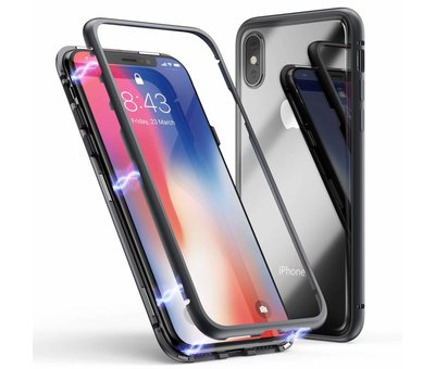 ShieldCase® ShieldCase magnetisch tempered glass hoesje iPhone X / Xs