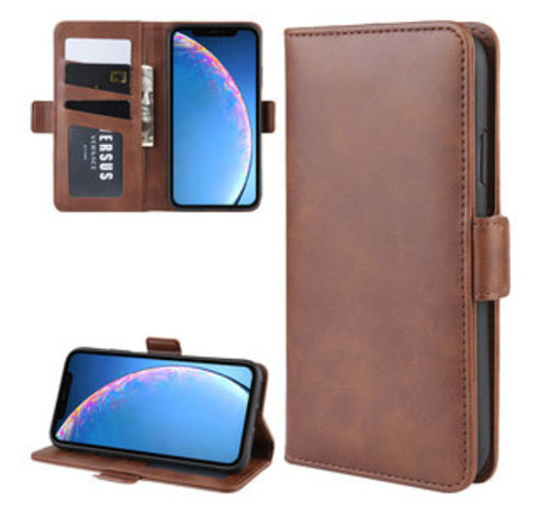 ShieldCase ShieldCase Leren Bookcase iPhone 11 (bruin)
