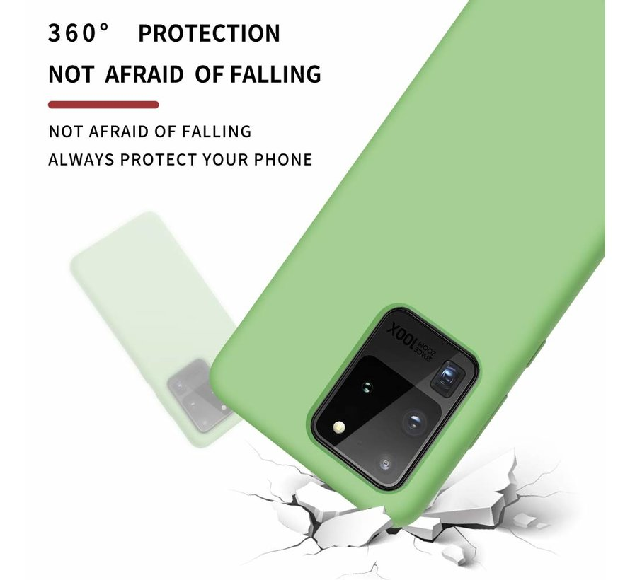 Shieldcase siliconen hoesje Samsung Galaxy S20 Ultra (lichtgroen)