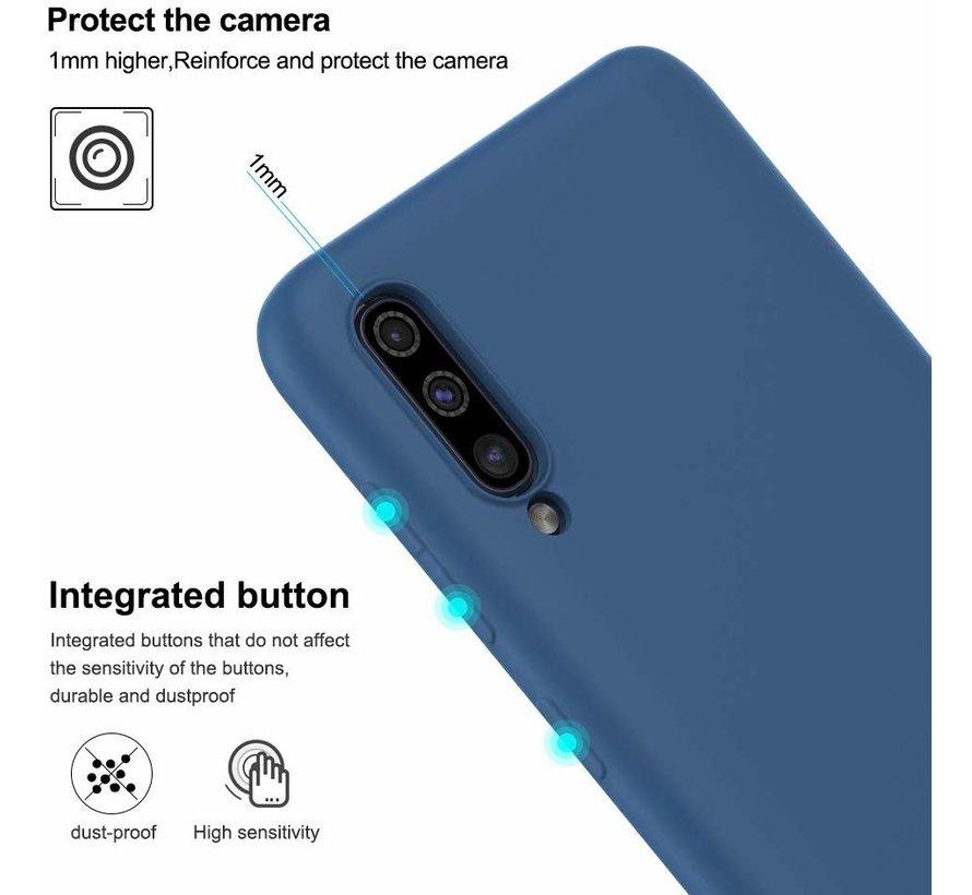 Shieldcase Silicone case Samsung Galaxy A50 (blauw)