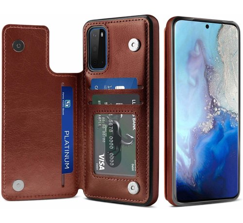 ShieldCase® ShieldCase Wallet Case Samsung Galaxy S20 (bruin)