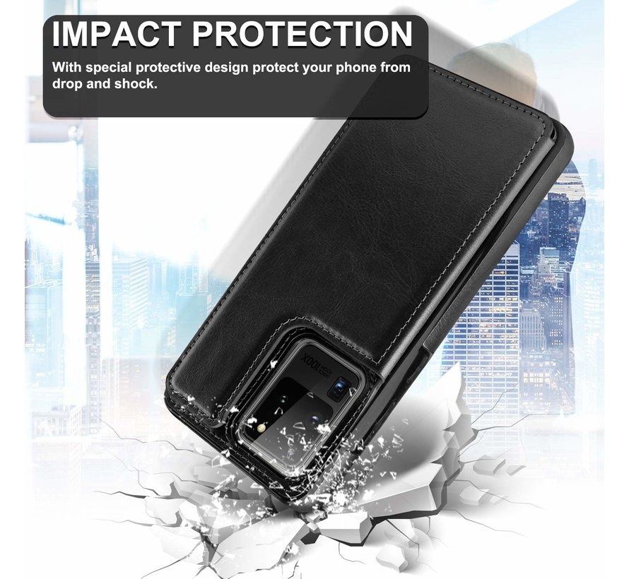 ShieldCase Wallet Case Samsung Galaxy S20 Ultra (zwart)