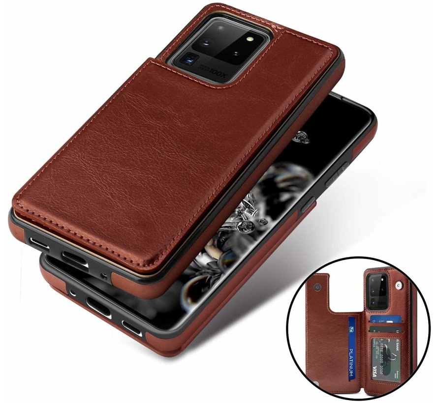 ShieldCase Wallet Case Samsung Galaxy S20 Ultra (bruin)