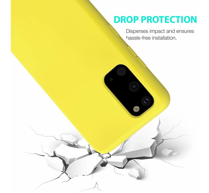 Shieldcase Samsung Galaxy S20 hoesje siliconen (geel)