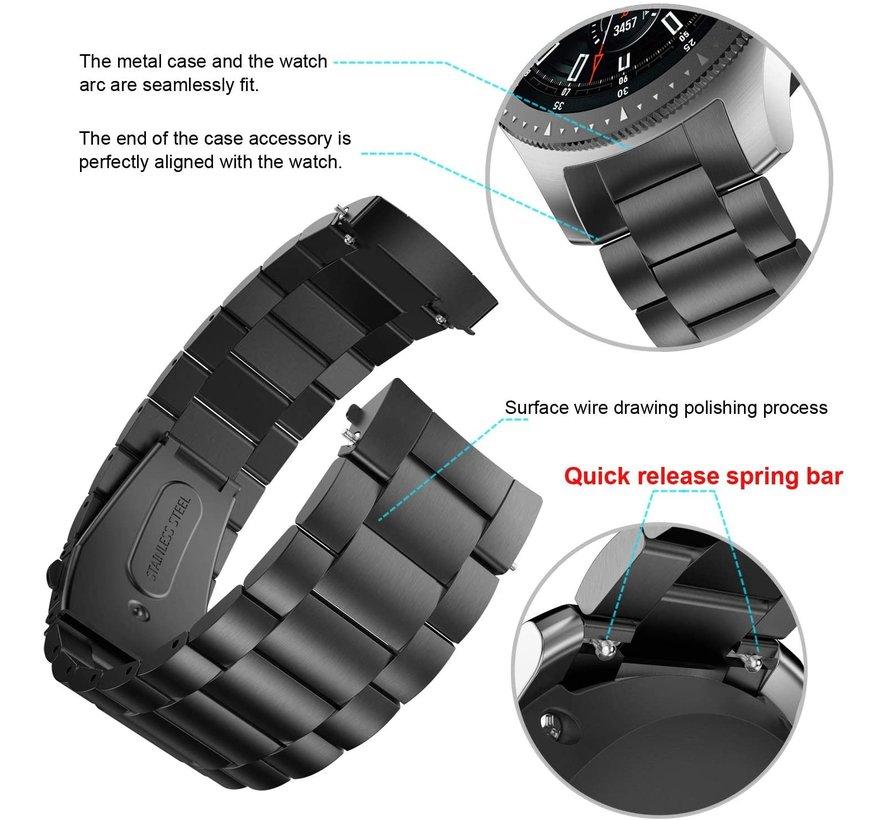 Samsung Gear S3 stalen band (zwart)