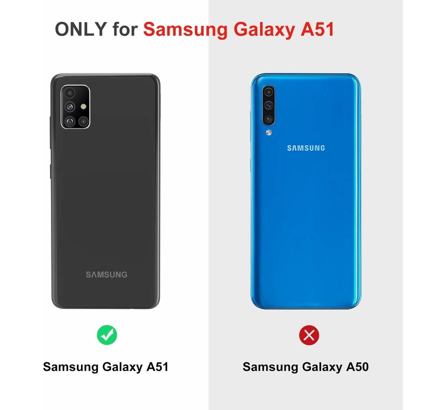 ShieldCase Samsung Galaxy A51 Shock case met pashouder