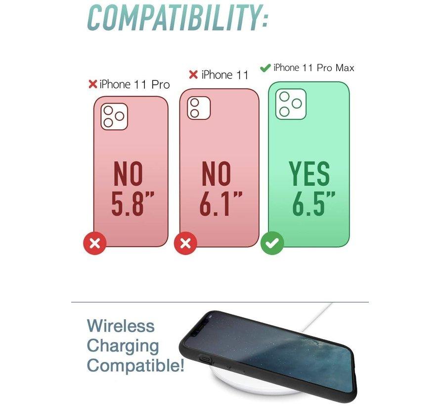 ShieldCase Marmeren patroon iPhone 11 Pro Max hoesje (zwart)