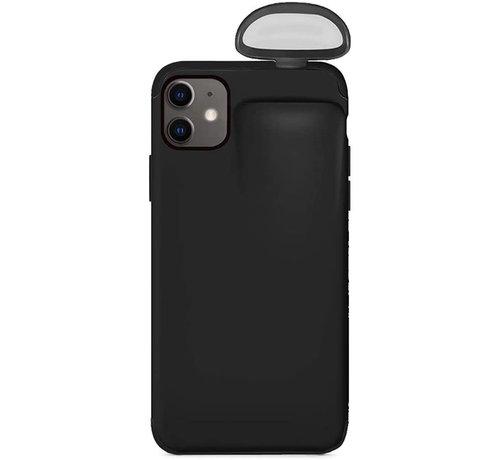 ShieldCase® Shieldcase iPhone 11 hoesje met Airpods houder (zwart)