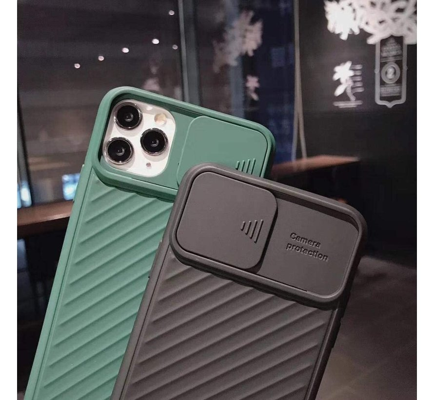 Shieldcase iPhone 11 Pro Max hoesje met camera slide cover (zwart)
