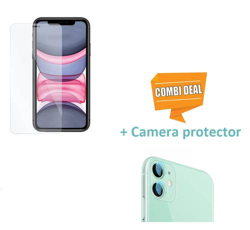 ShieldCase ShieldCase Tempered Glass Screenprotector  + camera glass iP iPhone 11