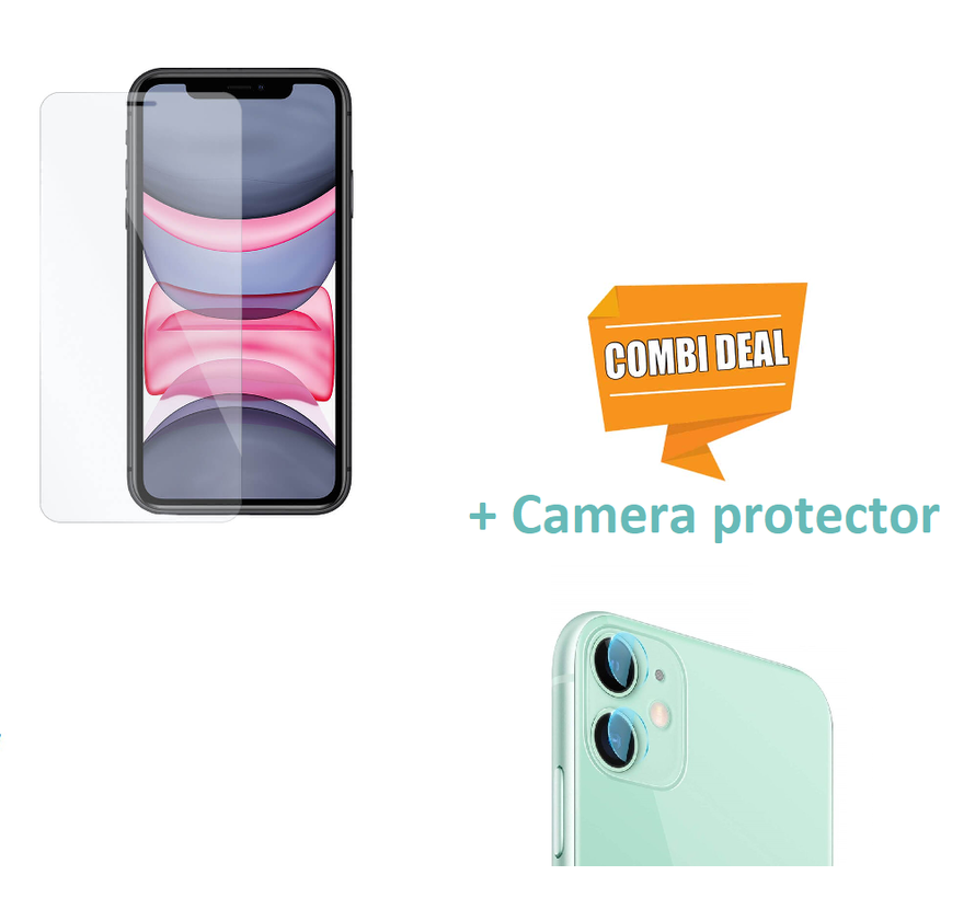 ShieldCase Tempered Glass Screenprotector  + camera glass iP iPhone 11