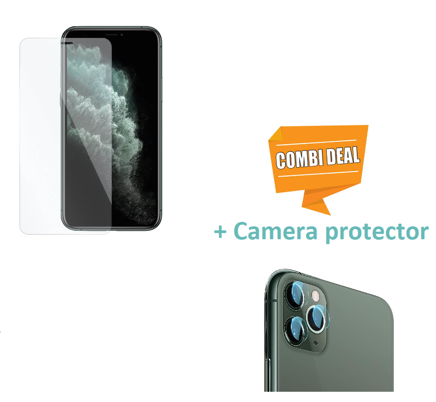 ShieldCase Tempered Glass Screenprotector + camera glass iPhone 11 Pro