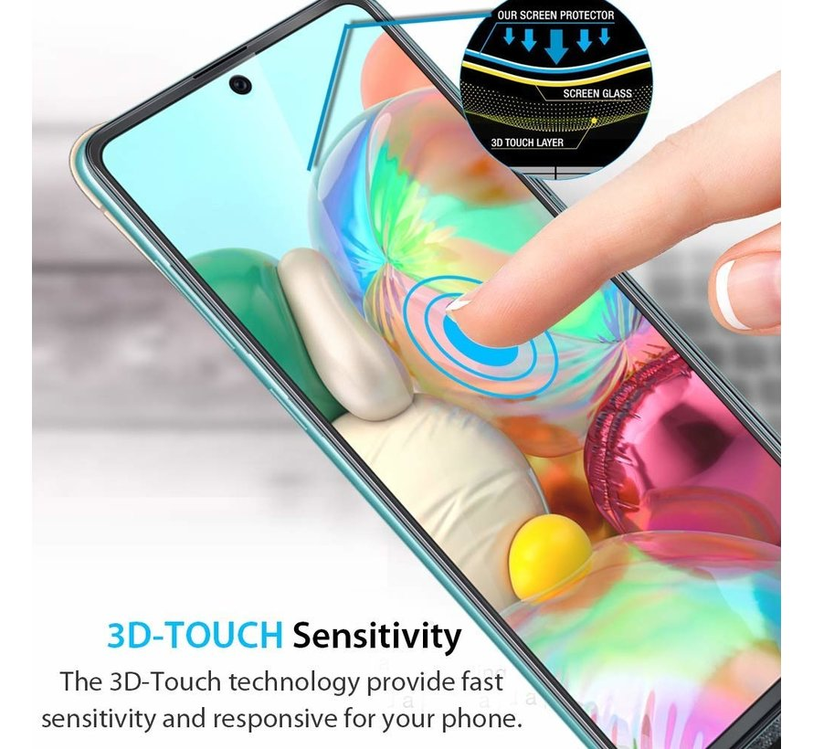 ShieldCase Tempered Glass Screen protector + camera glass Samsung Galaxy A71