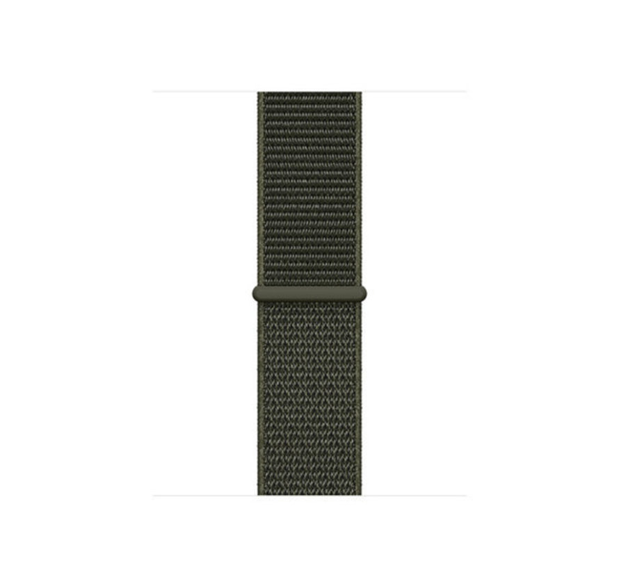 Apple Watch nylon loop band (groen)
