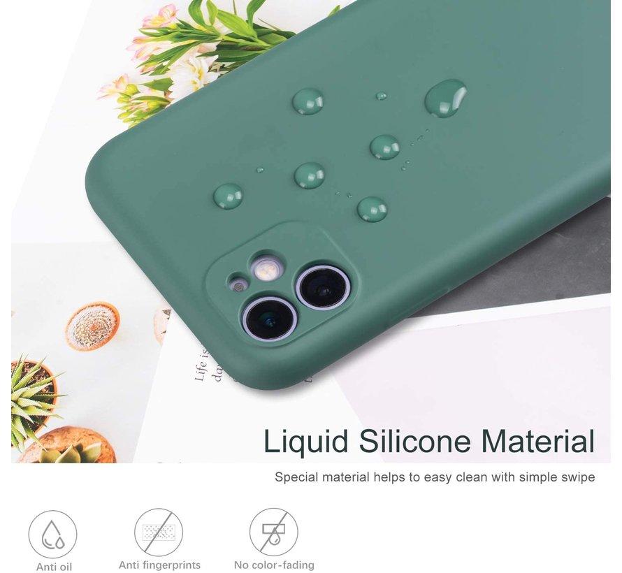 Shieldcase Siliconen hoesje met camera bescherming iPhone 11 (donkergroen)