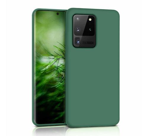 ShieldCase® Shieldcase siliconen hoesje Samsung Galaxy S20 Ultra (donkergroen)
