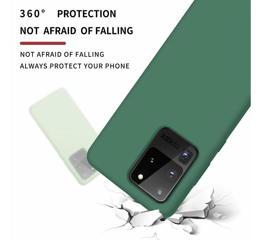 Shieldcase siliconen hoesje Samsung Galaxy S20 Ultra (donkergroen)