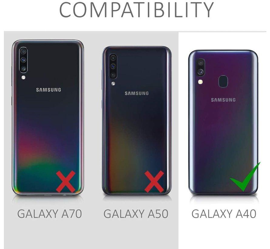 Shieldcase silicone case Samsung Galaxy A40 (blauw)