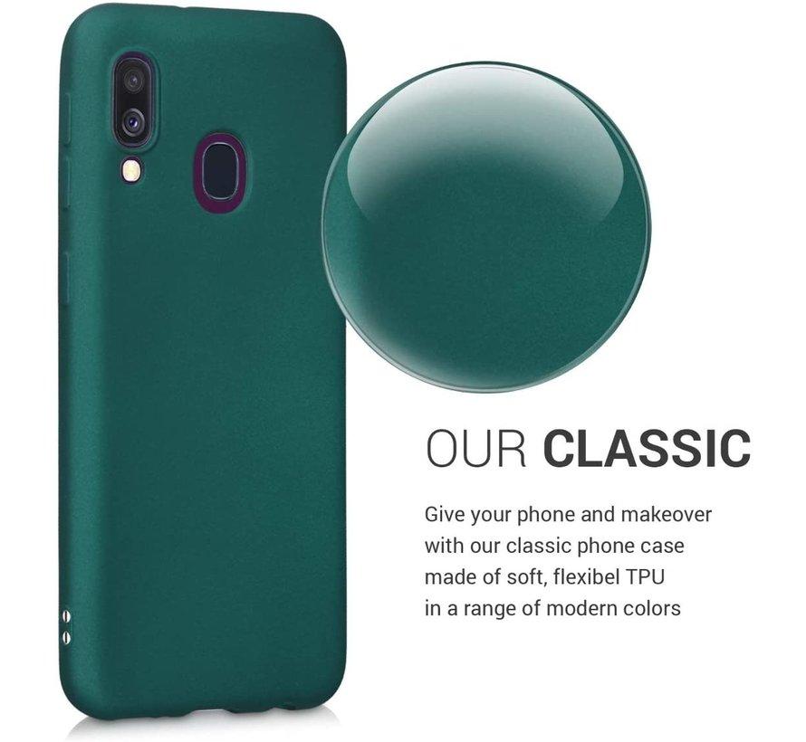 Shieldcase silicone case Samsung Galaxy A40 (donkergroen)