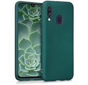 ShieldCase® Silicone case Samsung Galaxy A40 (donkergroen)