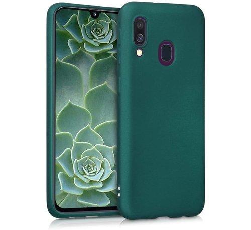 ShieldCase Shieldcase silicone case Samsung Galaxy A40 (donkergroen)