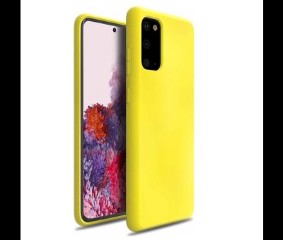 ShieldCase Shieldcase Samsung Galaxy S20 hoesje siliconen (geel)