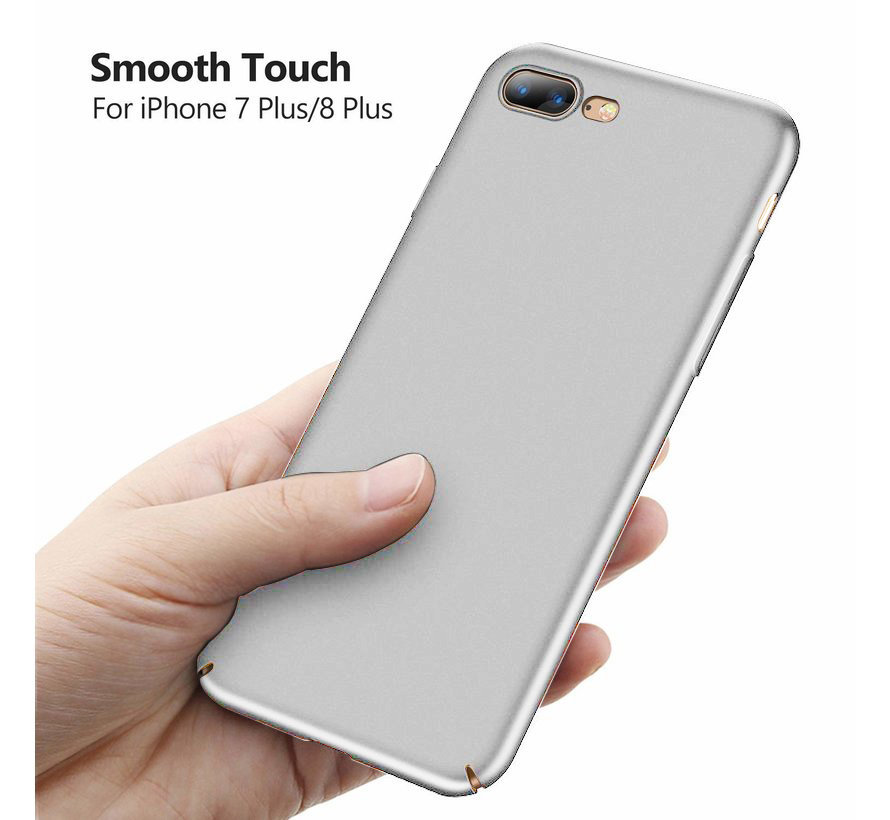ShieldCase Ultra thin iPhone 8 Plus / 7 Plus case (zilver)