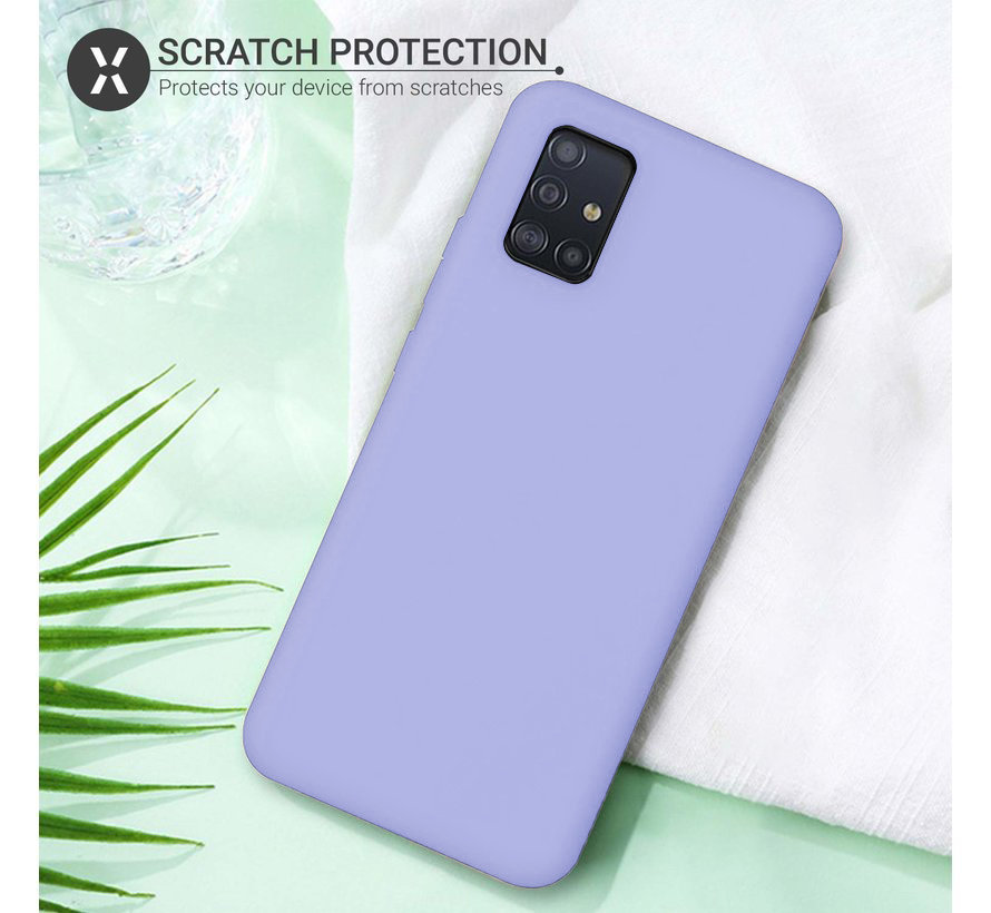 Shieldcase silicone case Samsung Galaxy A71 (paars)