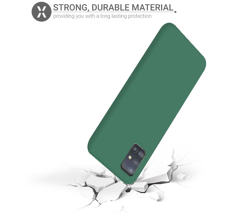 Shieldcase silicone case Samsung Galaxy A71 (donkergroen)