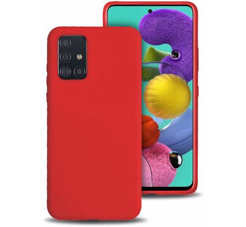 ShieldCase Shieldcase silicone case Samsung Galaxy A71 (rood)