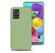 ShieldCase® Silicone case Samsung Galaxy A71 (lichtgroen)