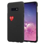 ShieldCase® Heart Eyes Samsung Galaxy S10e hoesje (zwart)