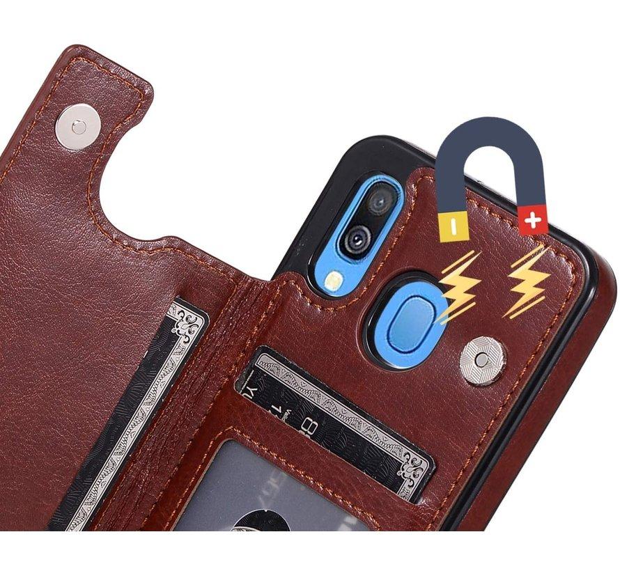 Shieldcase Samsung Galaxy A40 wallet case (bruin)