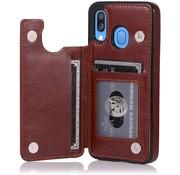 ShieldCase® Samsung Galaxy A40 wallet case (bruin)