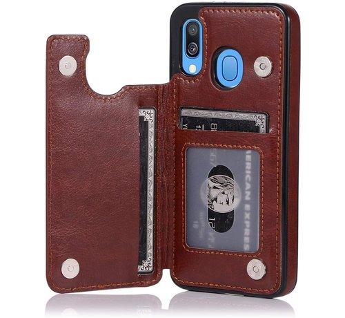 ShieldCase® Shieldcase Samsung Galaxy A40 wallet case (bruin)