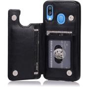 ShieldCase® Samsung Galaxy A40 wallet case (zwart)