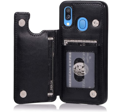 ShieldCase Shieldcase Samsung Galaxy A40 wallet case (zwart)