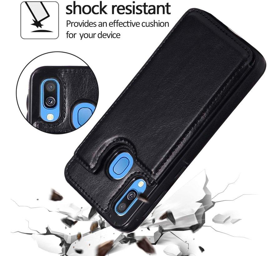 Shieldcase Samsung Galaxy A40 wallet case (zwart)