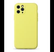ShieldCase Siliconen hoesje met camera bescherming iPhone 11 Pro (geel)