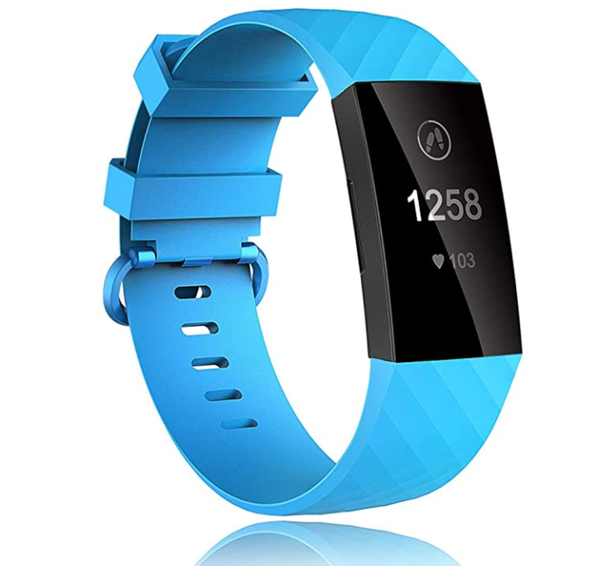 Fitbit Charge 3 silicone band (lichtblauw)