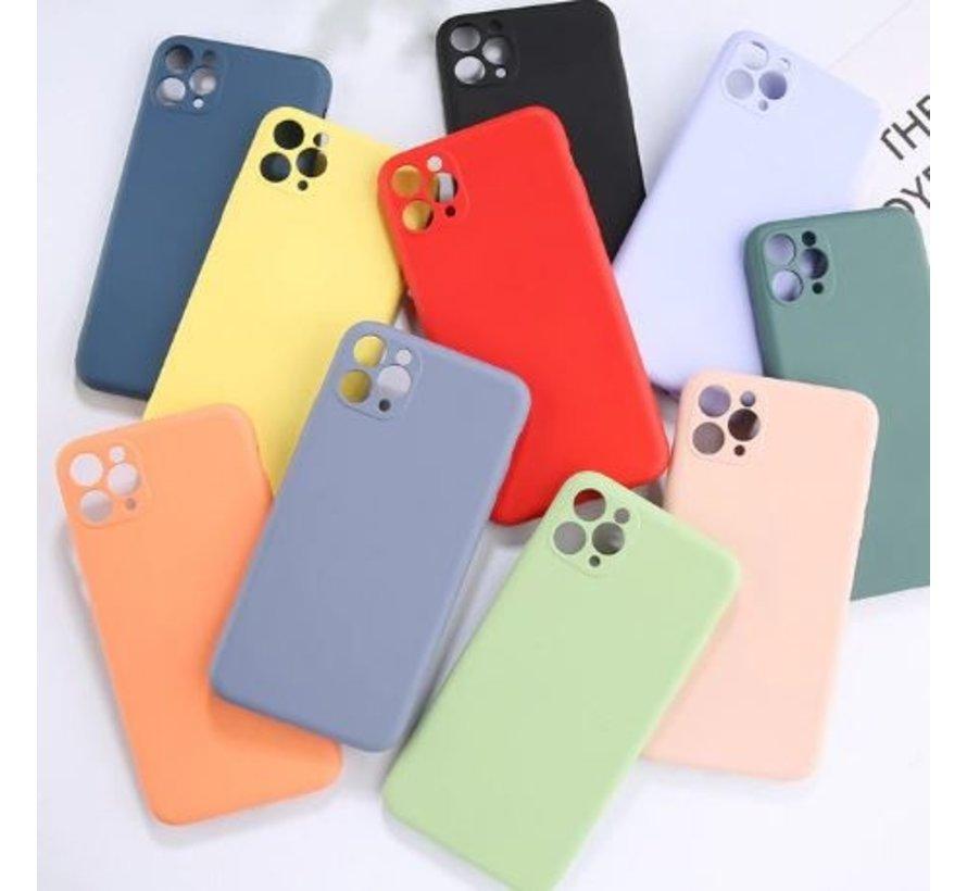 Shieldcase Siliconen hoesje met camera bescherming iPhone 11 Pro (paars)