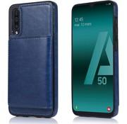 ShieldCase Wallet Case Samsung Galaxy A50 (blauw)