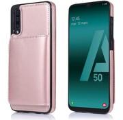 ShieldCase Wallet Case Samsung Galaxy A50 (roze)