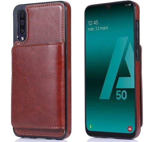 ShieldCase ShieldCase Wallet Case Samsung Galaxy A50 (bruin)