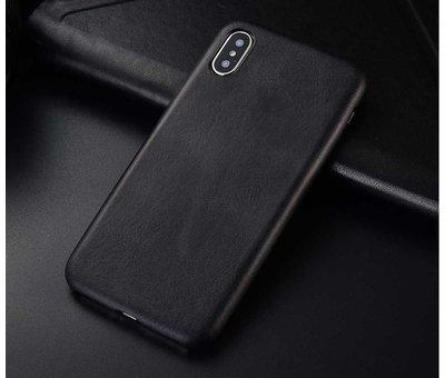 ShieldCase® Shieldcase iPhone X / Xs hoesje leer (zwart)