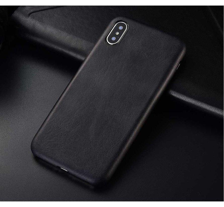 Shieldcase iPhone X / Xs hoesje leer (zwart)
